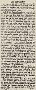 Die Schwester Luise Zorn hilft und schützt. © Frankfurter Rundschau 5. September 1945