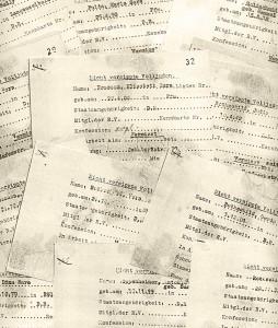 """Karteikarten der """"vermissten"""" Juden, die sich der Verhaftung entziehen. © Bundesarchiv Berlin, R 8150/30 und 34"""