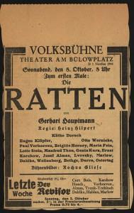 Genia Kurz / Theaterprogramm