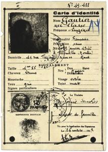 Ausweis für Genia Glass als Eugenie Gautier für die Zeit ihres Untertauchens in Mandagout 1944 © Hessisches Hauptstaatsarchiv Wiesbaden