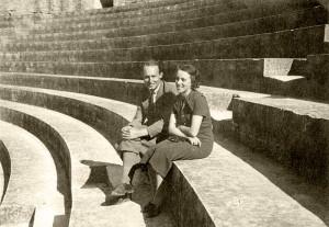 Das Ehepaar Kurt und Genia Glass (Aufnahme 1937) © Dr. Michel Glass