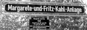 Für ihren Einsatz für Verfolgte wird im Stadtteil Frankfurt-Bockenheim eine Anlage nach Margarete und Fritz Kahl benannt. © Foto Petra Bonavita